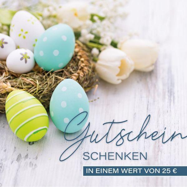 Gutschein 25 Euro - Motiv Ostern