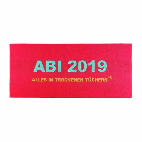 """ABI 2019 - Strandtuch """"Alles in trockenen Tüchern"""""""